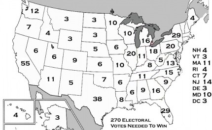 Eleven states needed to win the presidency
