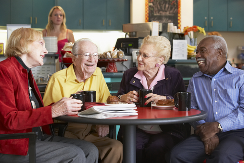 senior adults laughing