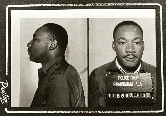 Martin Luther King, Jr.'s Birmingham, AL mugshot, April 12, 1963.