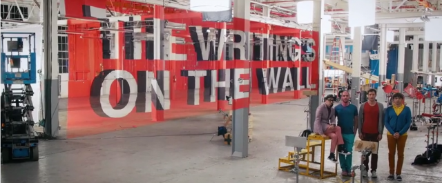 New video from OK Go, The Writing's On The Wall, is more genius